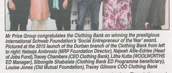 The Clothing Bank wins 'SOCIAL ENTREPRENEUR OF THE YEAR' award