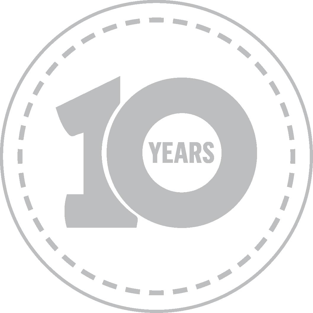 TCB 10 years logo