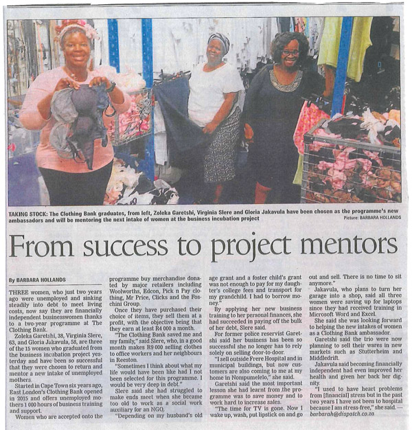 From success to project mentors